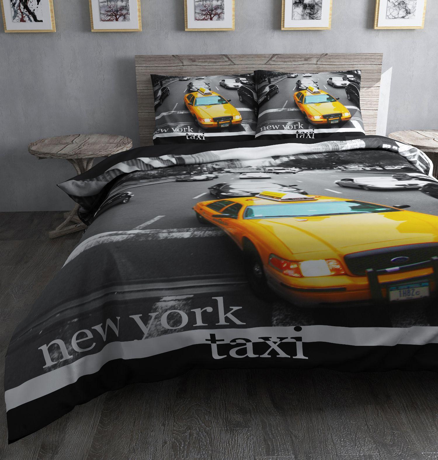 Dekbedovertrek Taxi van het merk Sleeptime showt ons het