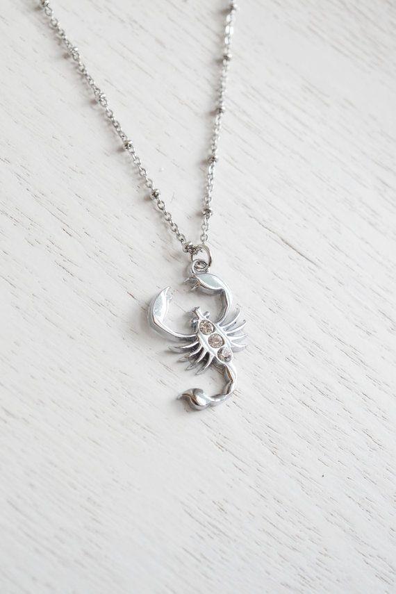Sterling Silver Pendant Scorpio Necklace