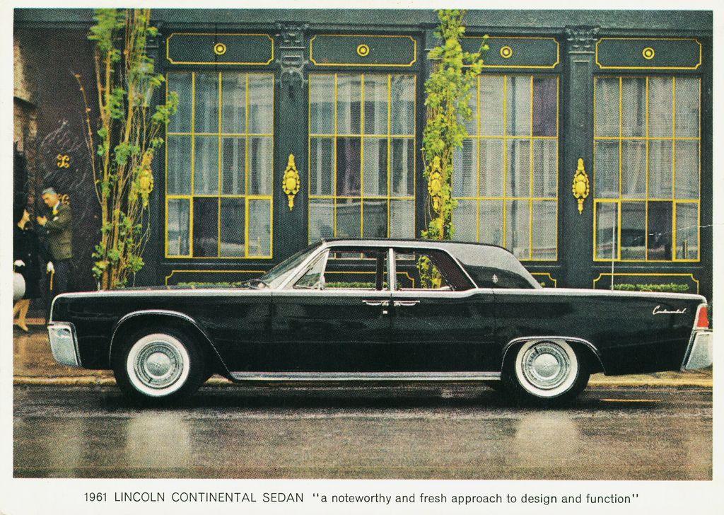 1961 Lincoln Continental Sedan Lincoln Mercury Pinterest