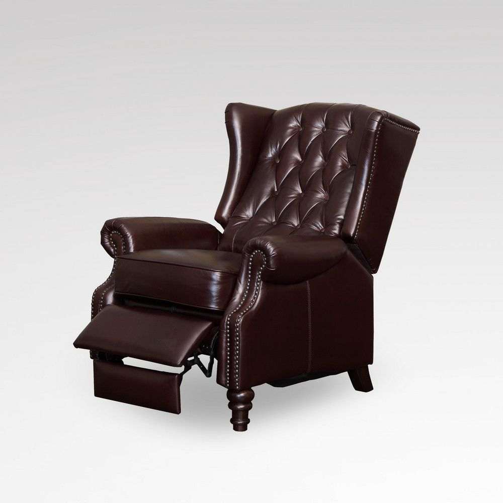 image of leather wingback chair recliner decorating ideas