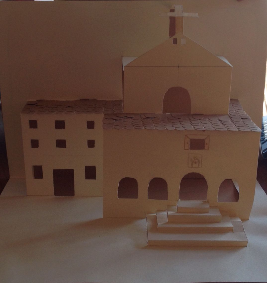 Iglesia. Kirigami