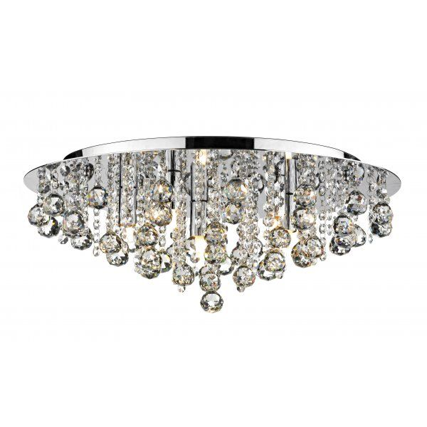 Crystal Flush Chandelier For Low Ceiling Online