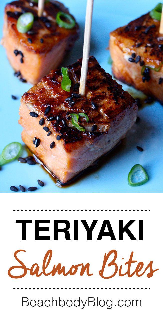 teriyaki salmon bites rezept fingerfood snacks appetizers pinterest lachs lachs. Black Bedroom Furniture Sets. Home Design Ideas