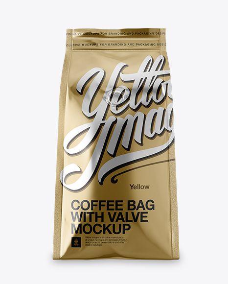 Download Free Mockups Free Mockups Metallic Coffee Bag With Valve Mockup Hero Shot Object Mockups Psd Design Metallic Bag Bag Mockup Coffee Pack