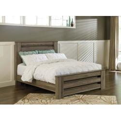 B248B2 in by Ashley Furniture in Livingston, LA - Zelen - Warm Gray 3 Piece Bed Set (Queen)