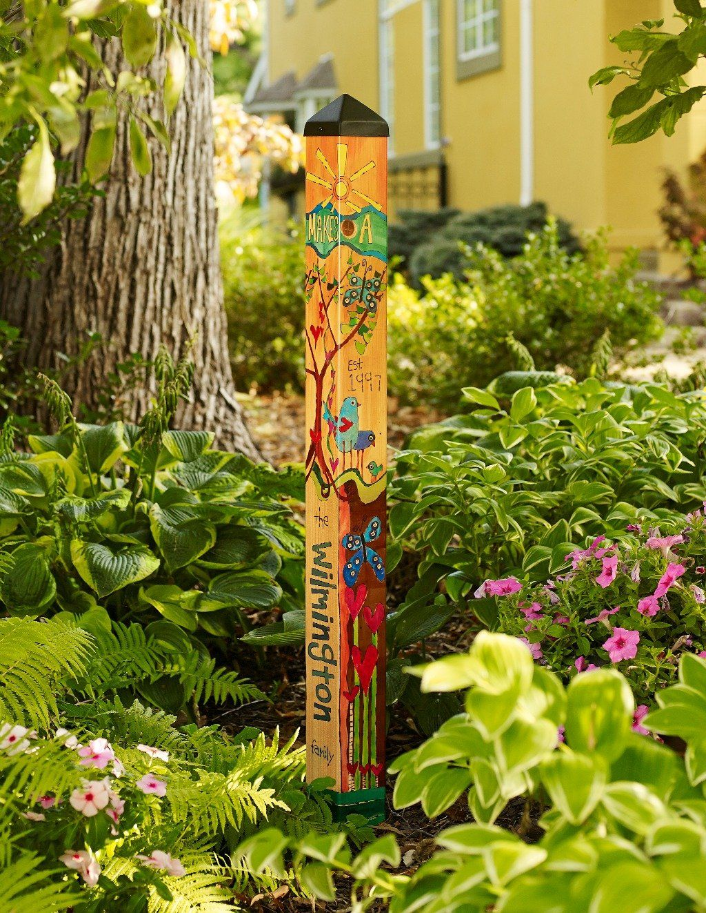 Customize Your Family Art Pole Art Pole Garden Poles Garden Art