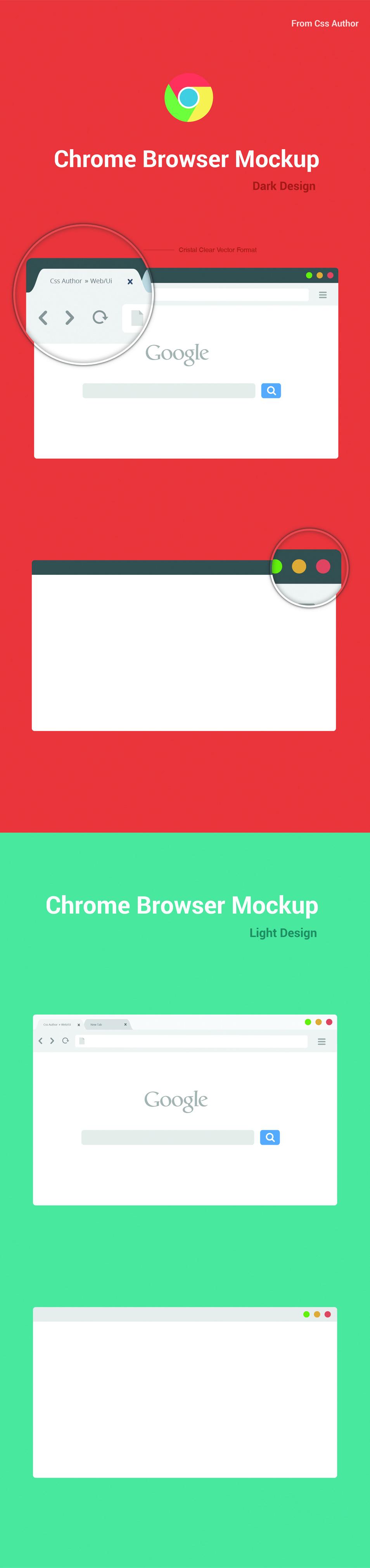 Free Chrome Browser Mockup Vector Mockup, Templates, Web