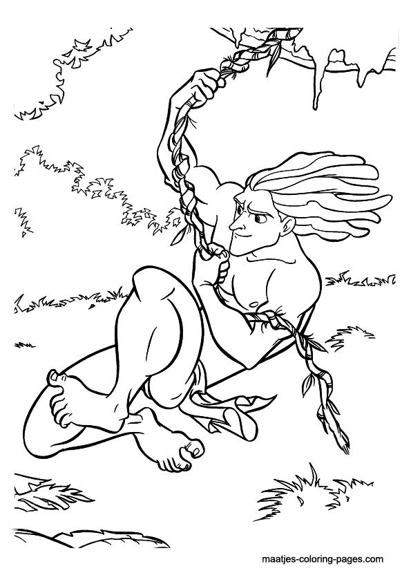 Tarzan Disney coloring page source maatjescoloringpagescom