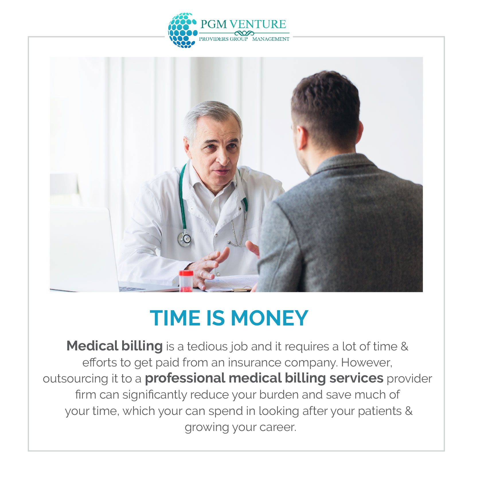 Time is Money! Professionals Medical Billing Services Firm