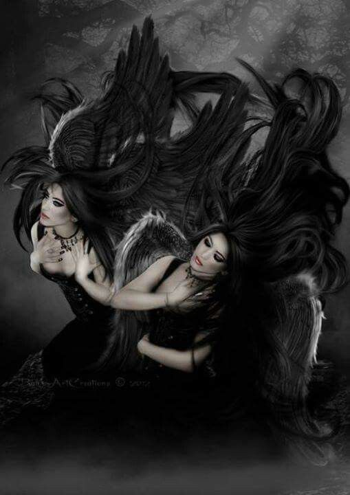 love angels Dark fantasy art