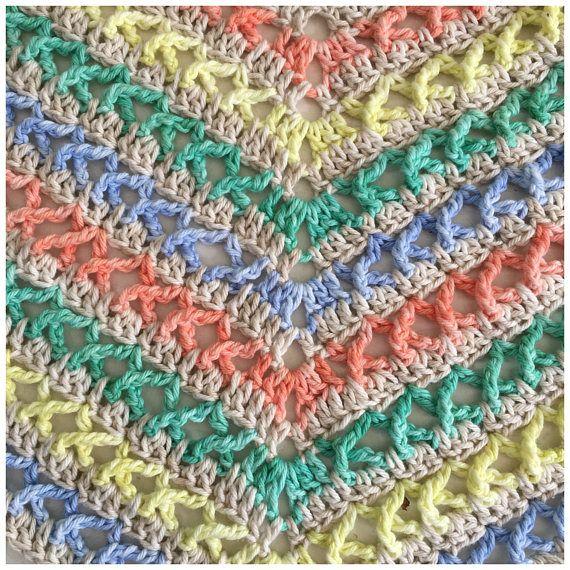 Summer Shawl crochet pattern, pdf | Pinterest | Dreieckstuch, Tücher ...