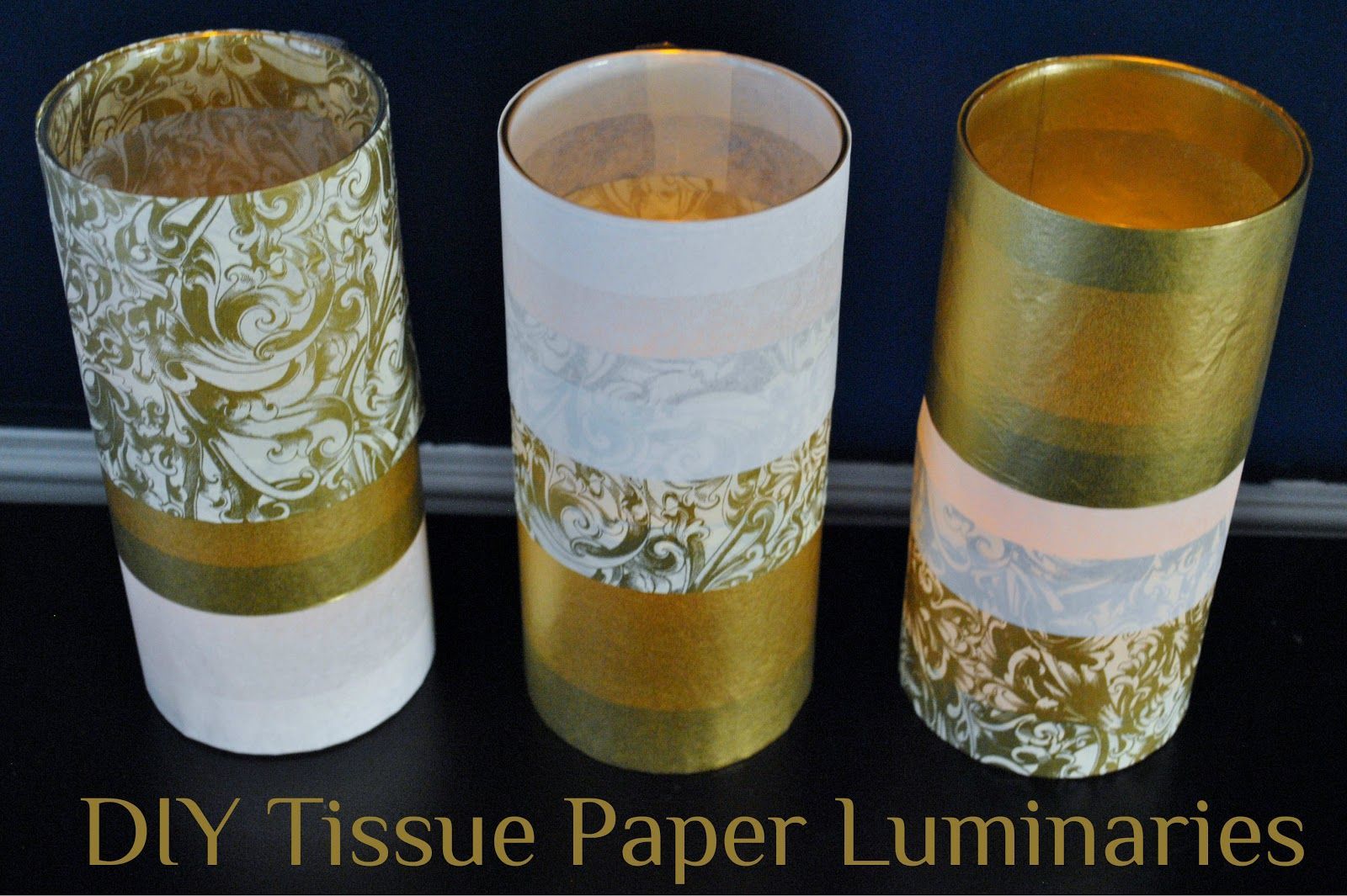 DIY Tissue Paper Luminaries - Looks so easy that I could even do it!