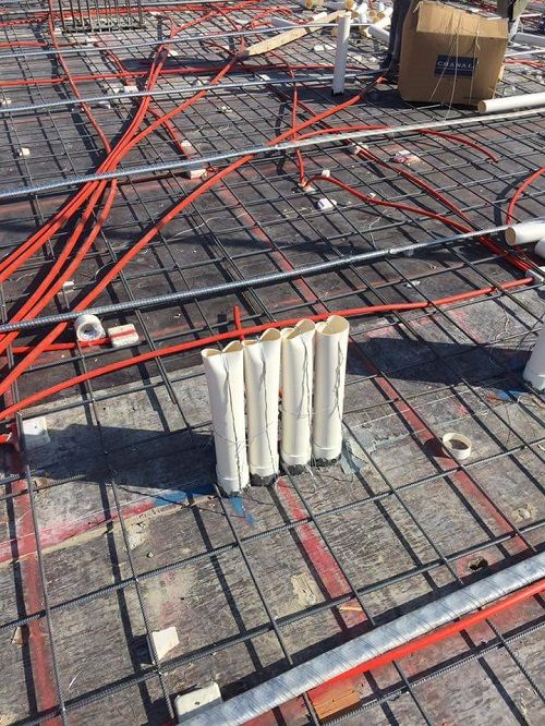 The Sleeves That Penetrate The Slab Mechanic Engineer Hvac Ventilation Slab Mechanical Engineering