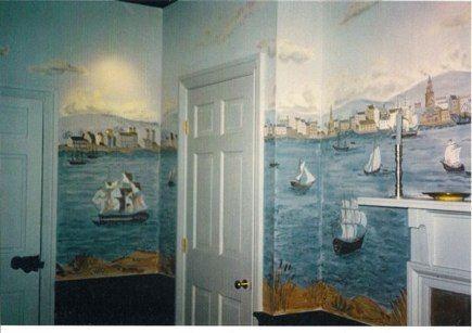 Handpainted mural walls by carol nagel