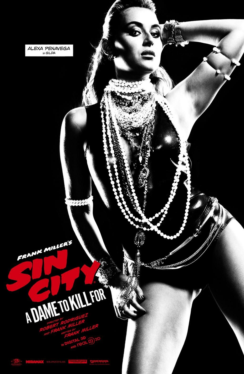 Alexa Vega Features On Latest Sin City A Dame To Kill For Poster Sin City Movie Sin City Sin City 2