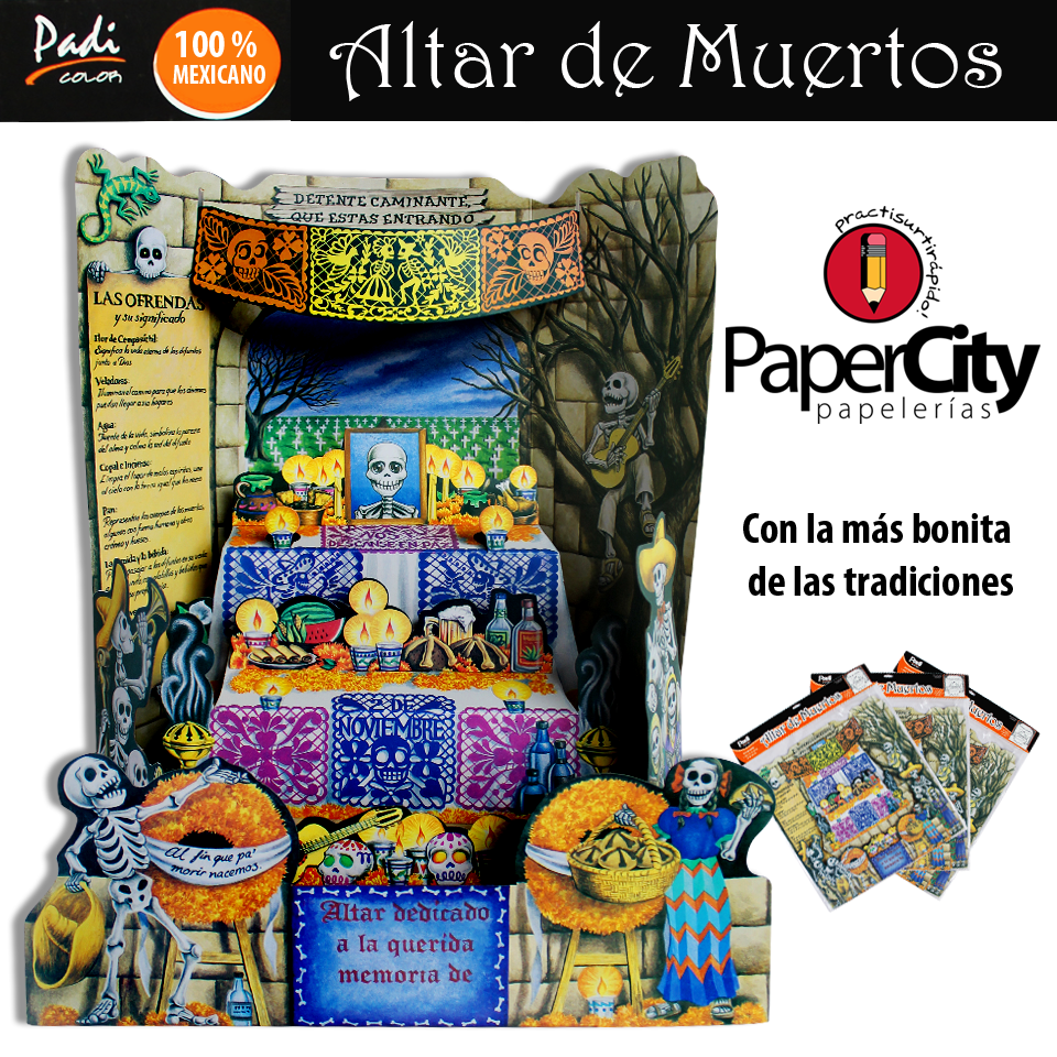 Ven a #PaperCity y adquiere tu #AltardeMuertos, tenemos diseños espectaculares.