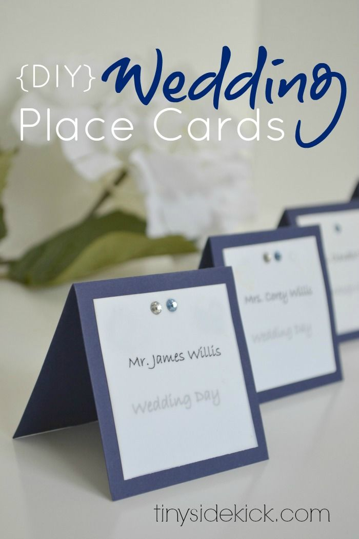 3 simple do it yourself wedding ideas wedding places place card how to make wedding place cards solutioingenieria Image collections