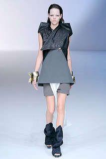 Black & White Folding Fashions at Rick Owens Spring 2010 Show #origami #paperart trendhunter.com