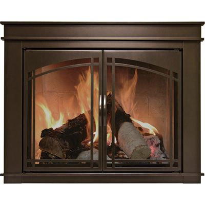 Pleasant Hearth Fenwick Fireplace Glass Door Bronze For 36in