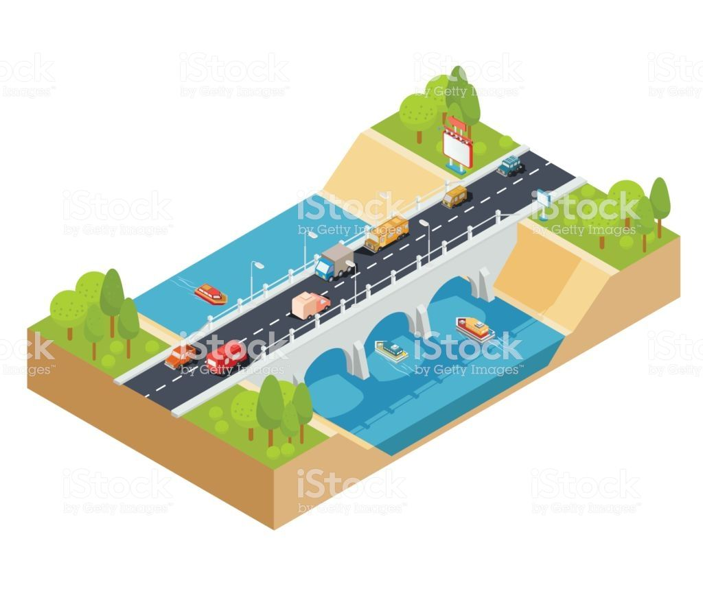 Vector 3d Isometric Illustration Of Cross Section Of A