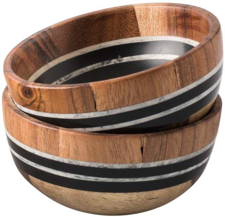 Juliska Stonewood Stripe Set Of 2 Small Bowls токарка