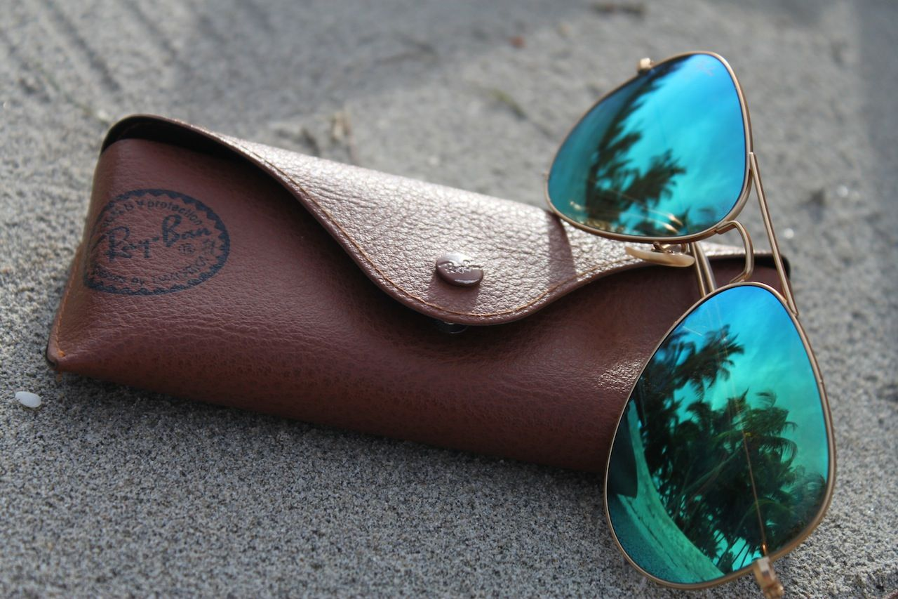 ray ban mirrored aviator sunglasses blue green  10+ images about mirror ray bans on pinterest