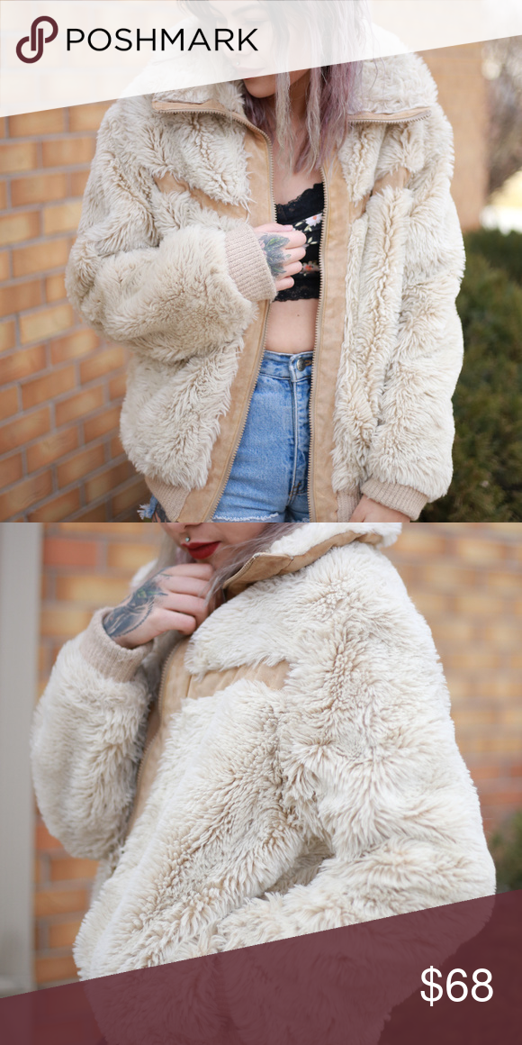"""c3b8652c6 VINTAGE faux fur jacket """"Weather Tamer"""" perfect condition! Very warm made  in America. Size unknown, fits like a small medium size small Jackets &  Coats"""