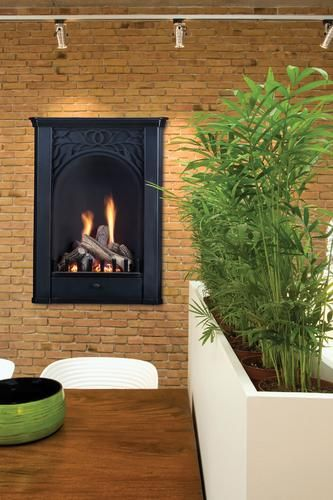 20 in. Parlor Vent Free Propane Fireplace System with Logs ...