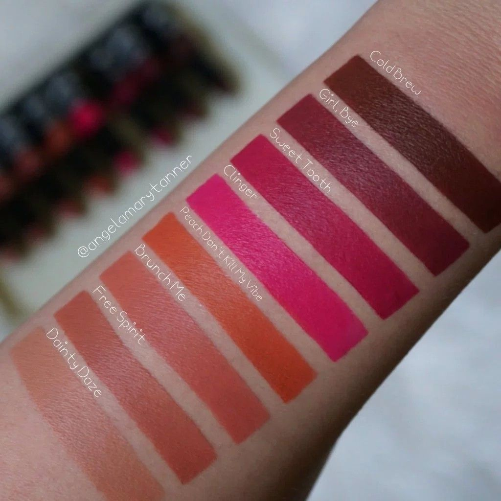 Swatches Of The Nyx Suede Matte Lipstick Makeup In 2019 Nyx
