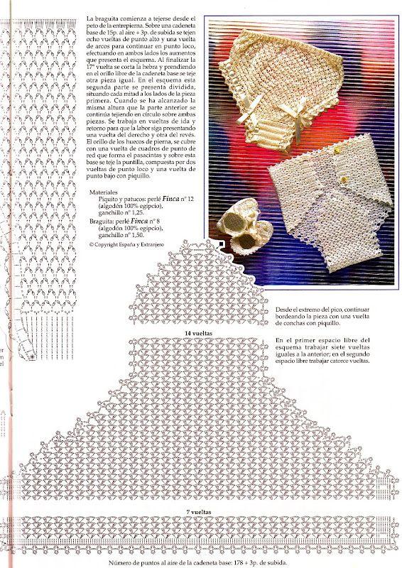 BRAGUITAS BEBE | Compartiendo patrones y diagramas de crochet ...