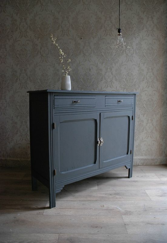Buffet parisien gris charbon Relooking de vieux meubles