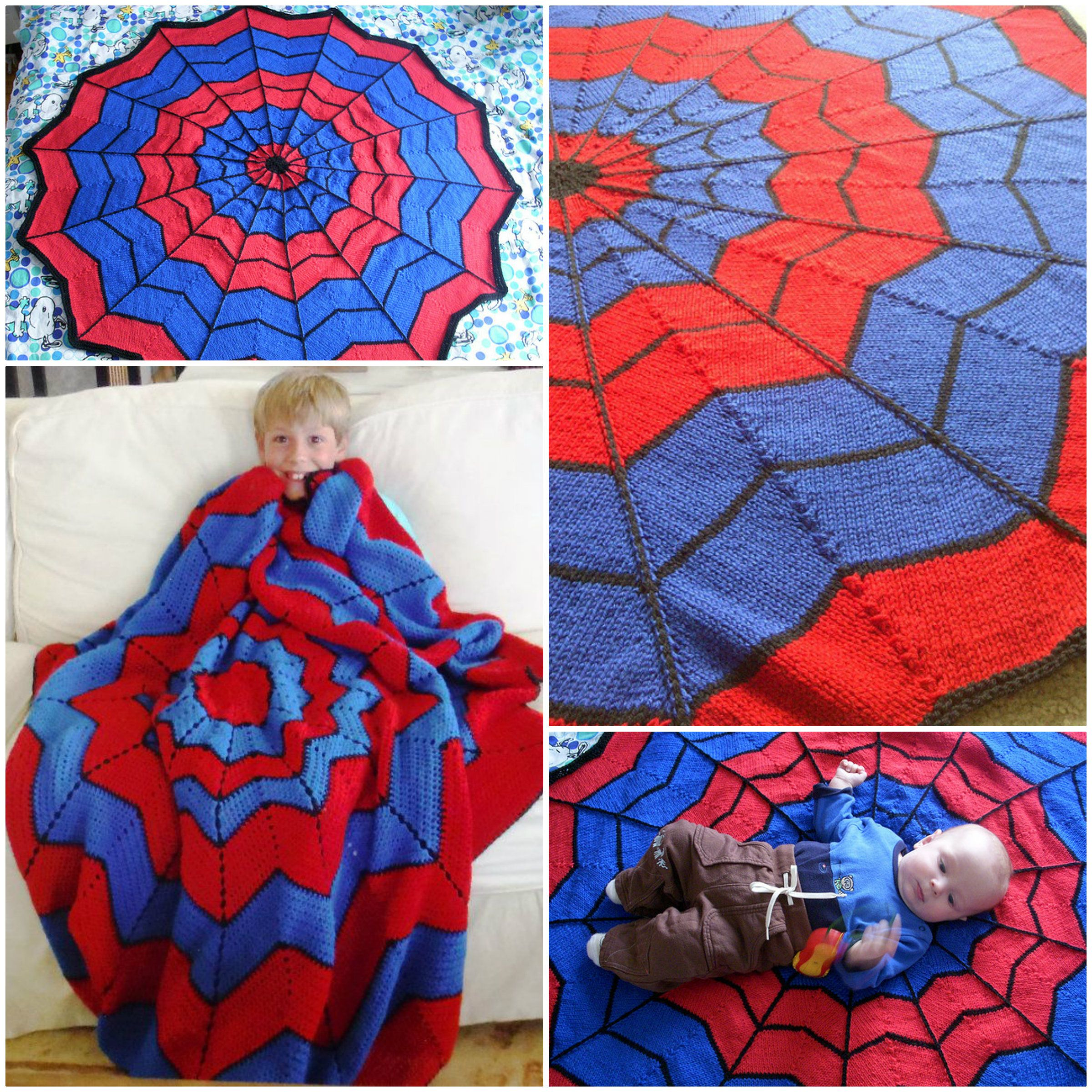 Spiderman Knitted Blanket Free Pattern | Spiderman blanket ...
