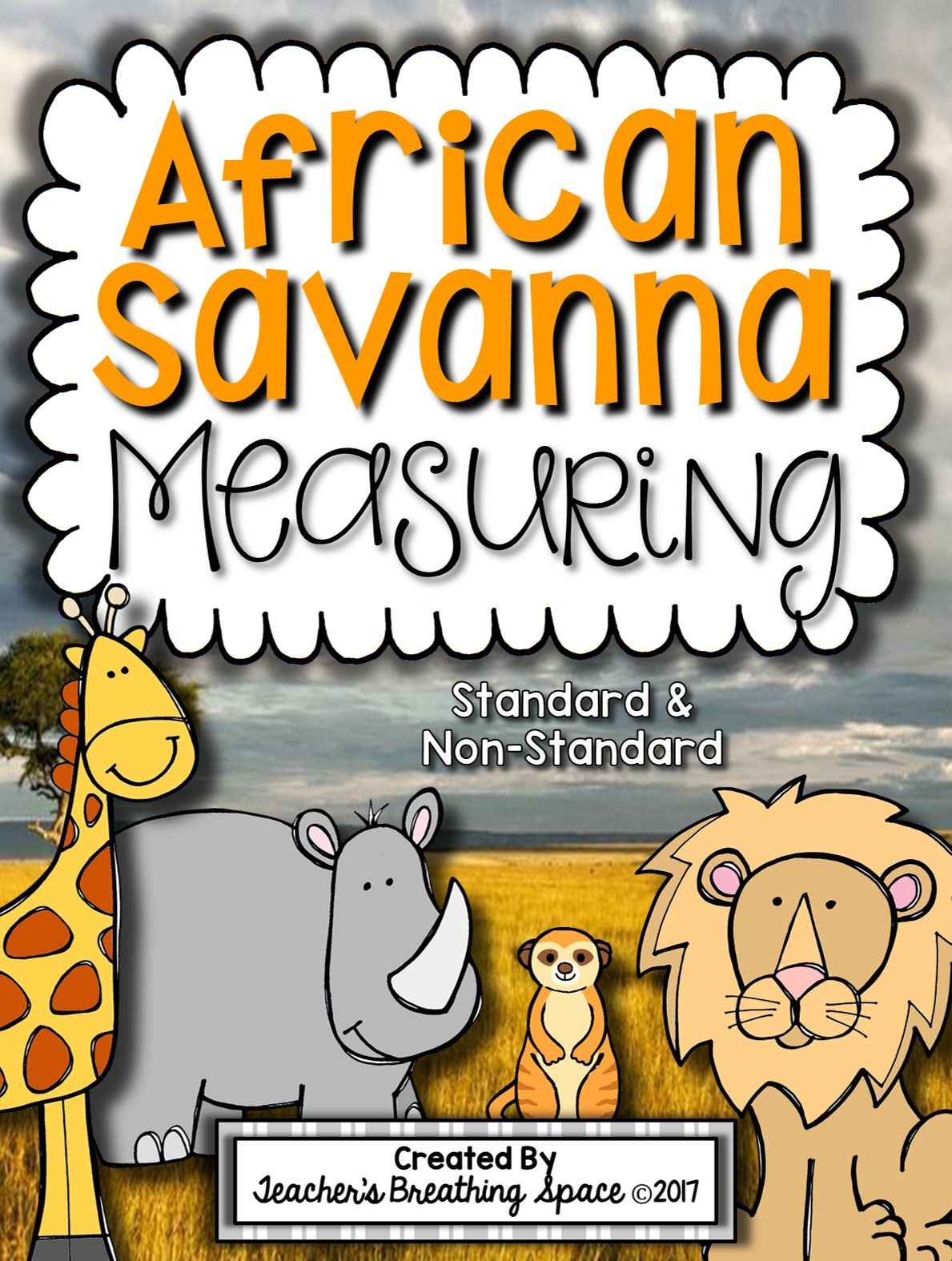 African Savanna Animal Measuring Book And Measurement Math