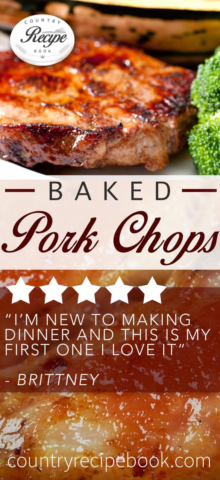 Country Style Baked Pork Chops Recipe Pork Recipes Baked Pork Food Recipes