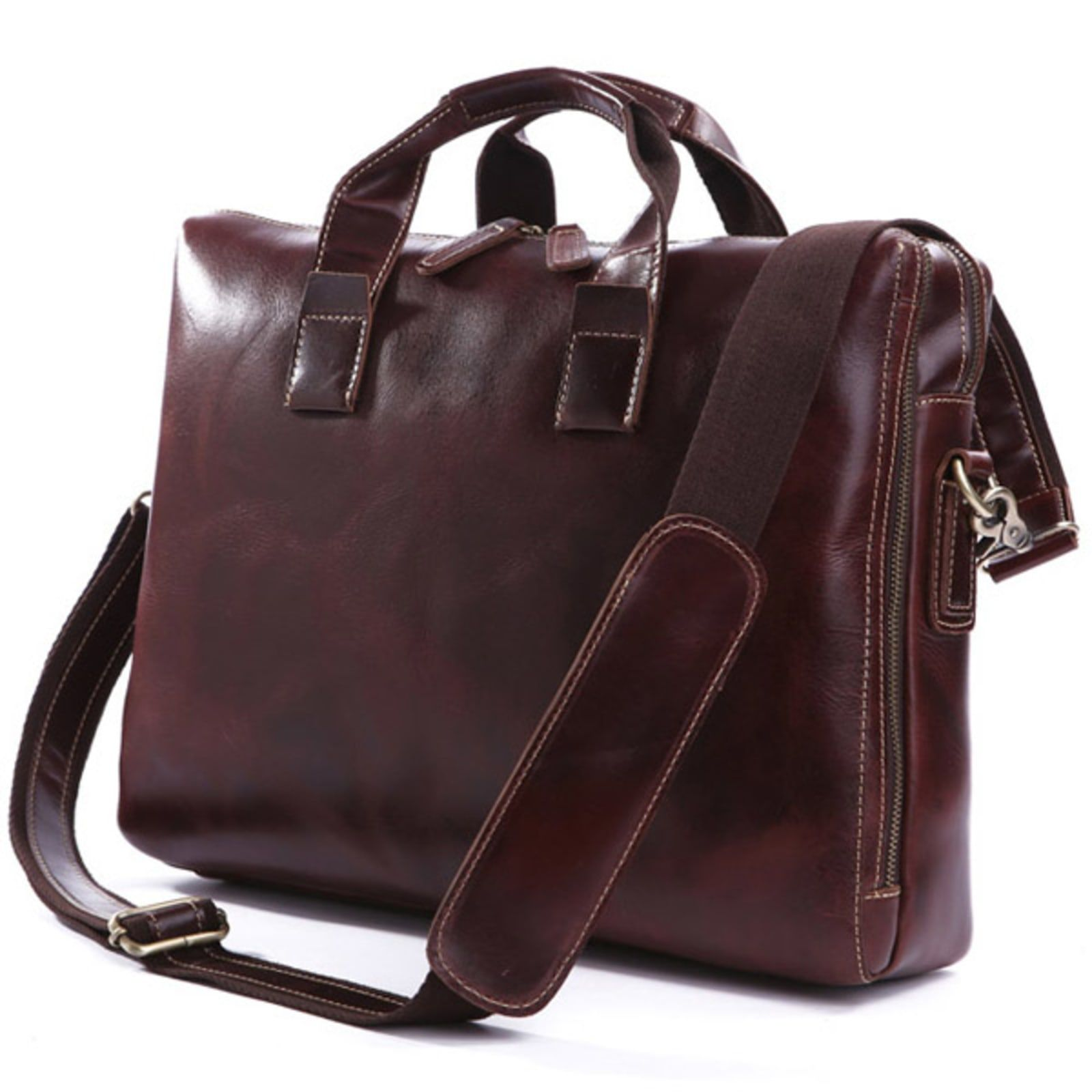 Photo of Brown Modern Lined Leather Bag | In stock! | Delton Bags