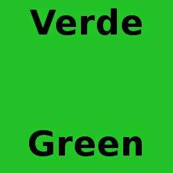 Mi Palabra Del Dia Los Colores Verde Green