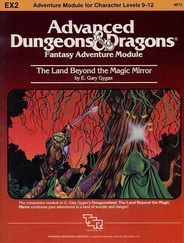 Ex2 The Land Behind The Magic Mirror 1e Book Cover And
