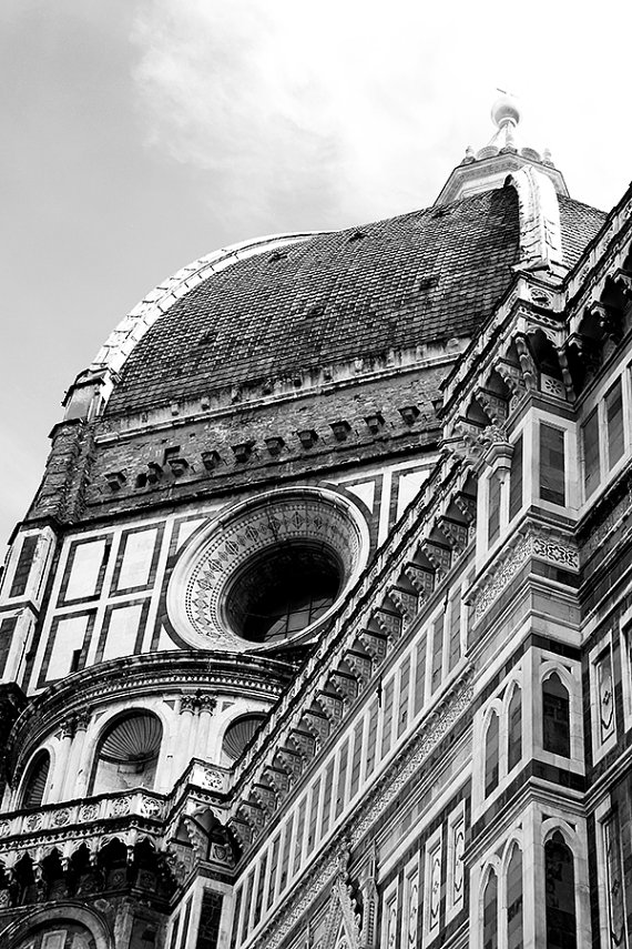 Downloadable black and white travel photo of the Duomo in Florence, Italy. Makes a great statement piece in any home or office.