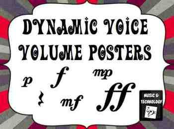 Dynamic Voice Volume Posters- Classroom management posters on voice volume using the different dynamics.