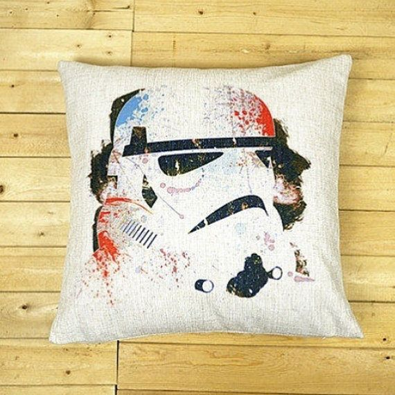 Star Wars Stormtrooper Cushion Cover by QuirkyHomeUK on Etsy