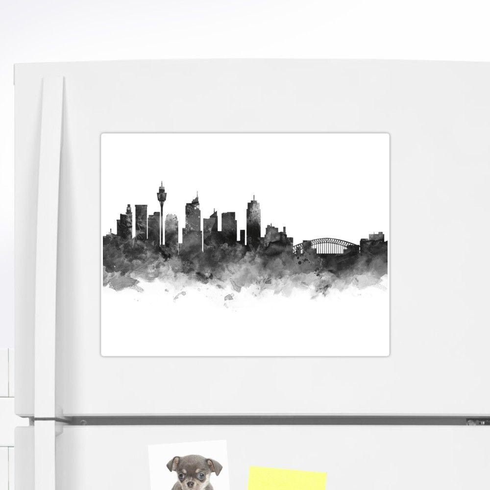 sydney sydney skyline cityscape landscape art print sticker