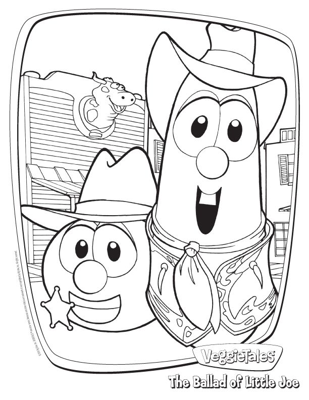 Veggie Tales Coloring Pages With Images Veggie Tales Birthday
