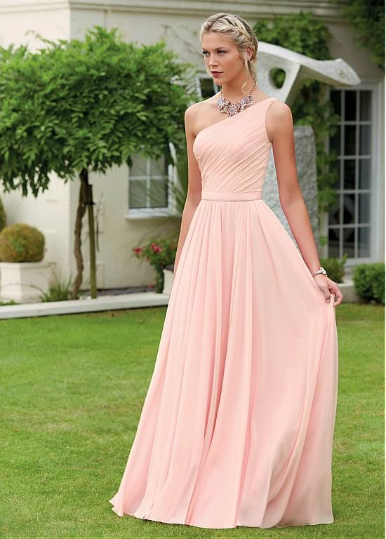 Buy discount Famous Chiffon One-shoulder Neckline A-line Bridesmaid ...