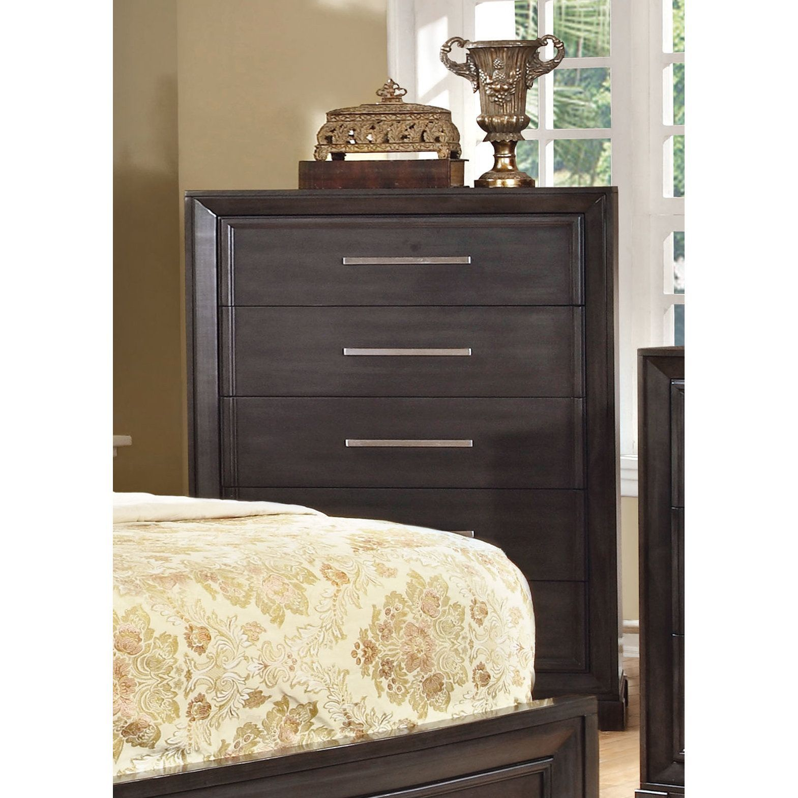 furniture of america stoneward dark grey 5 drawer chest dark grey rh pinterest co uk
