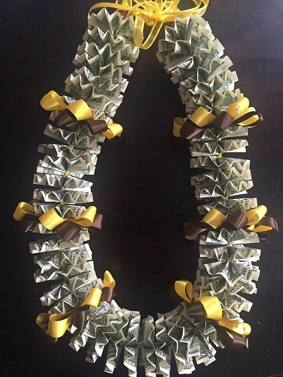 Money Lei Made Of 50 1 Dollar Usd Bills And Ribbon