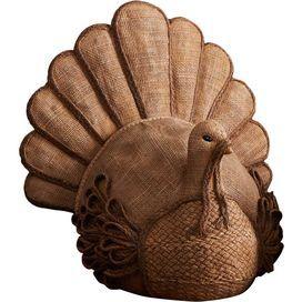 Burlap Turkey Decor