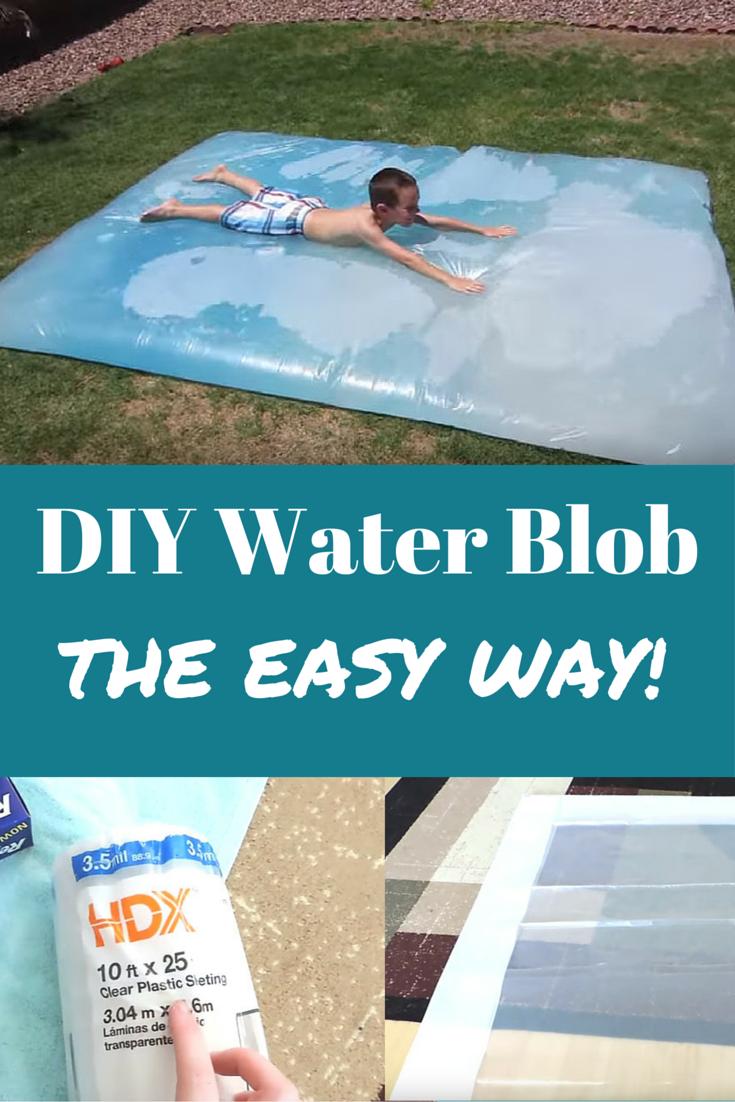 DIY Water Blob the Easy Way!   Water blob, Outdoor kids