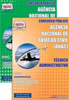 Apostila ANAC 2015 Técnico Administrativo (PDF, Download, Digital, Impressa)