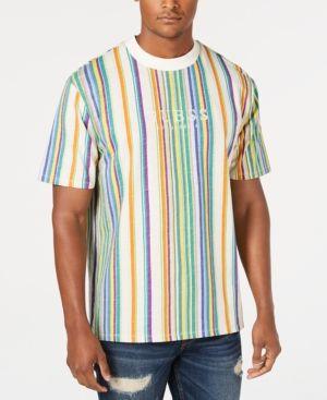 8dbf842b4104 Guess Originals Men's Riviera Striped T-Shirt - White XXL | Products ...
