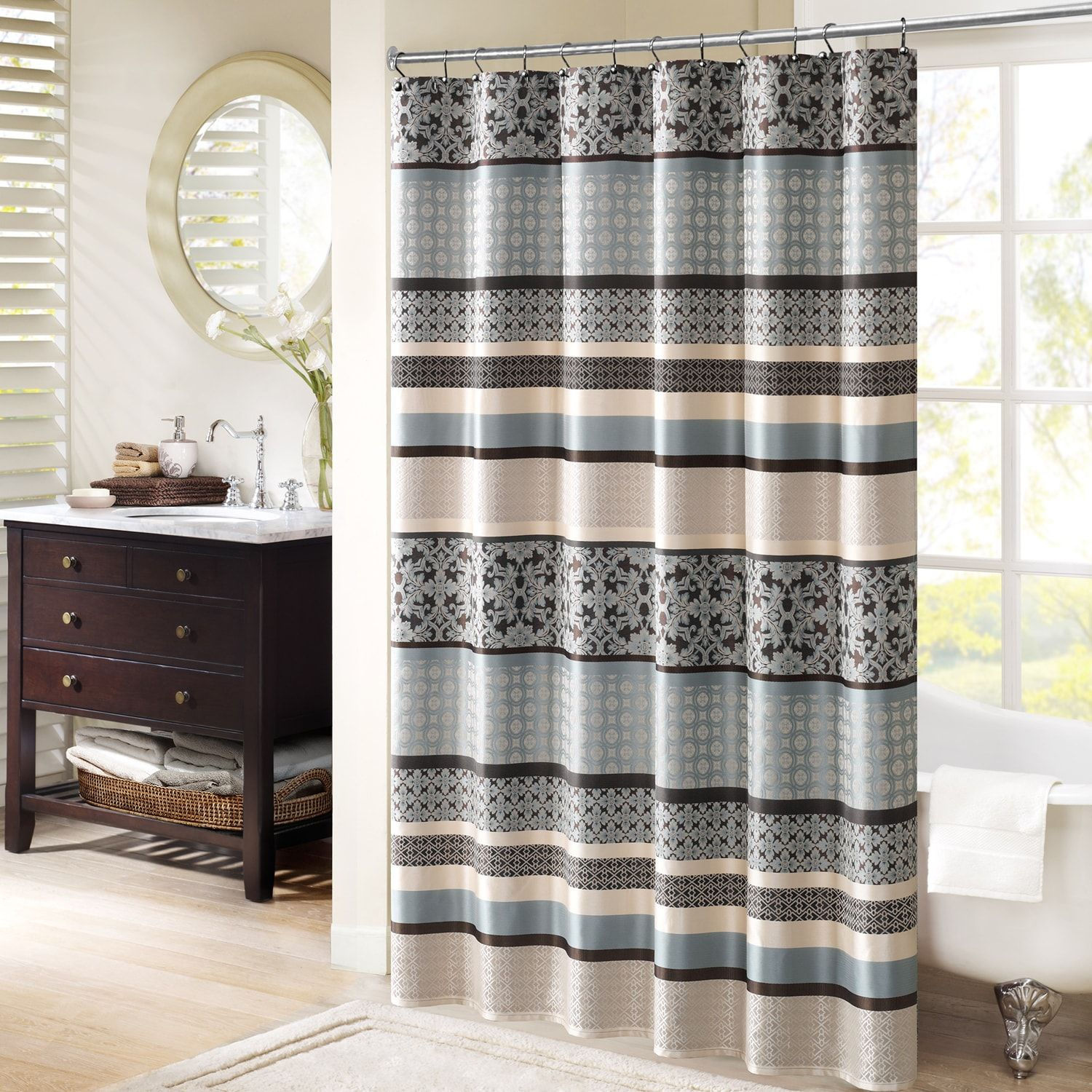Shower with window ideas  madison park harvard jacquard shower curtain  home ideas